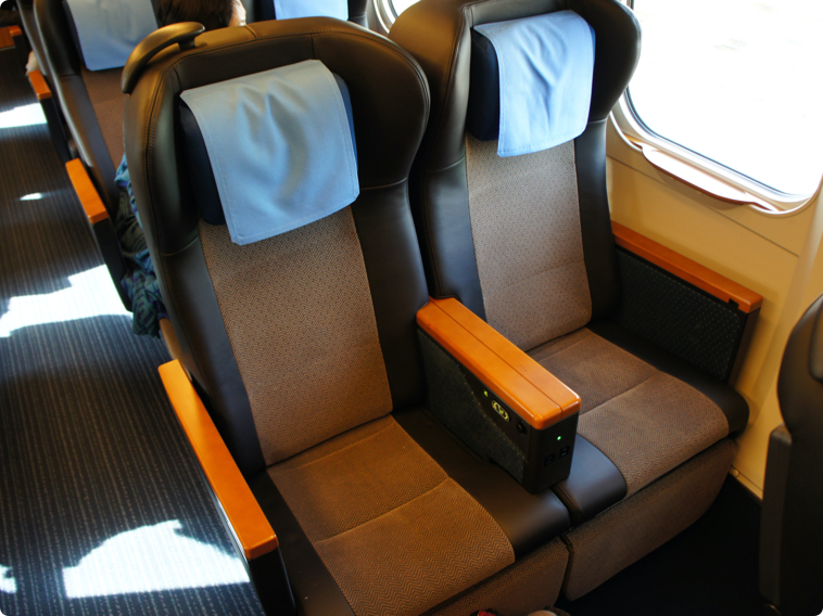 Green car interior