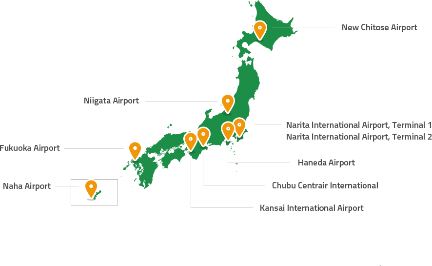 Japan Rails Pass - Mappa